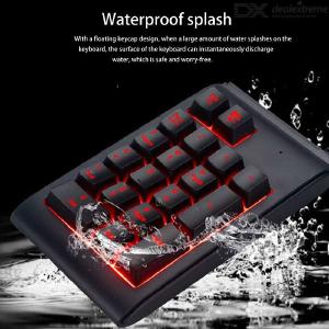 Wired Number Pad Waterproof Mini 19-Key Numeric Keypad With Backlight
