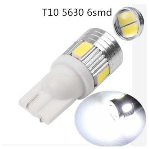 5-Pack T10 W5W LED Bulbs Super Bright 6-LED Car Replacement Lights For Car Parking Light Dashboard Side Marker Light
