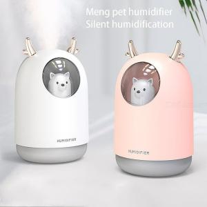 USB Mini Humidifier Cool Mist Cute Portable Air Humidifier With Night Light For Bedroom Baby Room Home Office Car