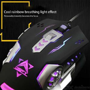 X10 Gaming Mouse Silent Optical Game Mouse With Backlit 4 DPI Levels