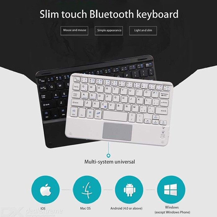 Wireless Keyboard With Built-in Touchpad For 7/8/9 Inch Tablets