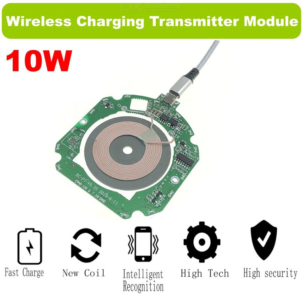 Dx coupon: Cwxuan Qi Wireless Charger 10W 7.5W PCBA Circuit Board Coil Module, DIY Fast Charging Pad Charger Module for IPhone X 8 Plus Sam