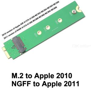 M.2 NGFF SSD Drive To A1369 A1370 Converter Adapter For 2010 2011 MacBook Air