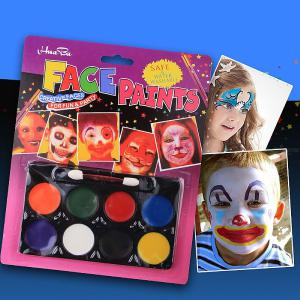 Face Paint 8 Colors Set Washable Non-Toxic Paints Halloween Cosplay Body Painting Palette Party Fancy Makeup Tools