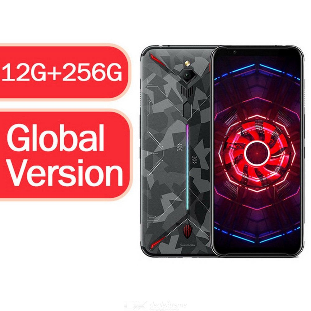 Global Version ZTE Nubia Red Magic 3 Mobile Phone 6.65 Inch Snapdragon 855 Front 48MP Rear 16MP 12G RAM 256G ROM 5000mAh Android