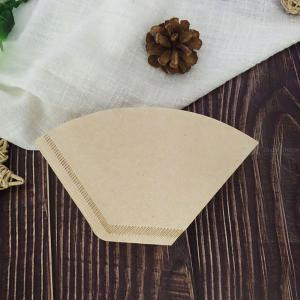 Pack Of 100 Wooden Hand Drip Paper Coffee Filter Espresso Coffee Filters