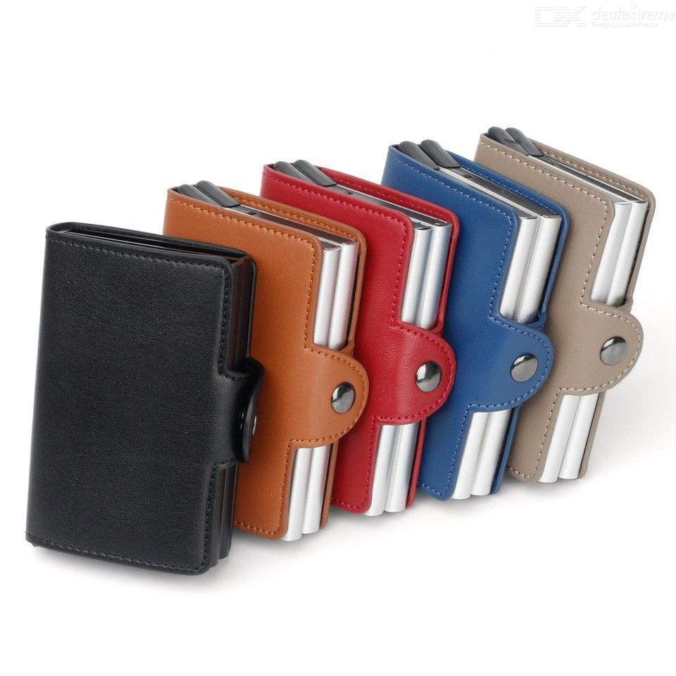 Automatic Pu Leather Credit Card Holder Multifunctional Money Clip