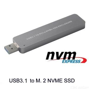 NVMe SSD To USB 3.1 Adapter Converter For PCIE M.2 2280 SSD External Drive