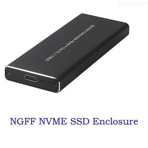 NVMe PCIE USB3.1 HDD Enclosure M.2 To USB Type C 3.1 Hard Disk Drive Case