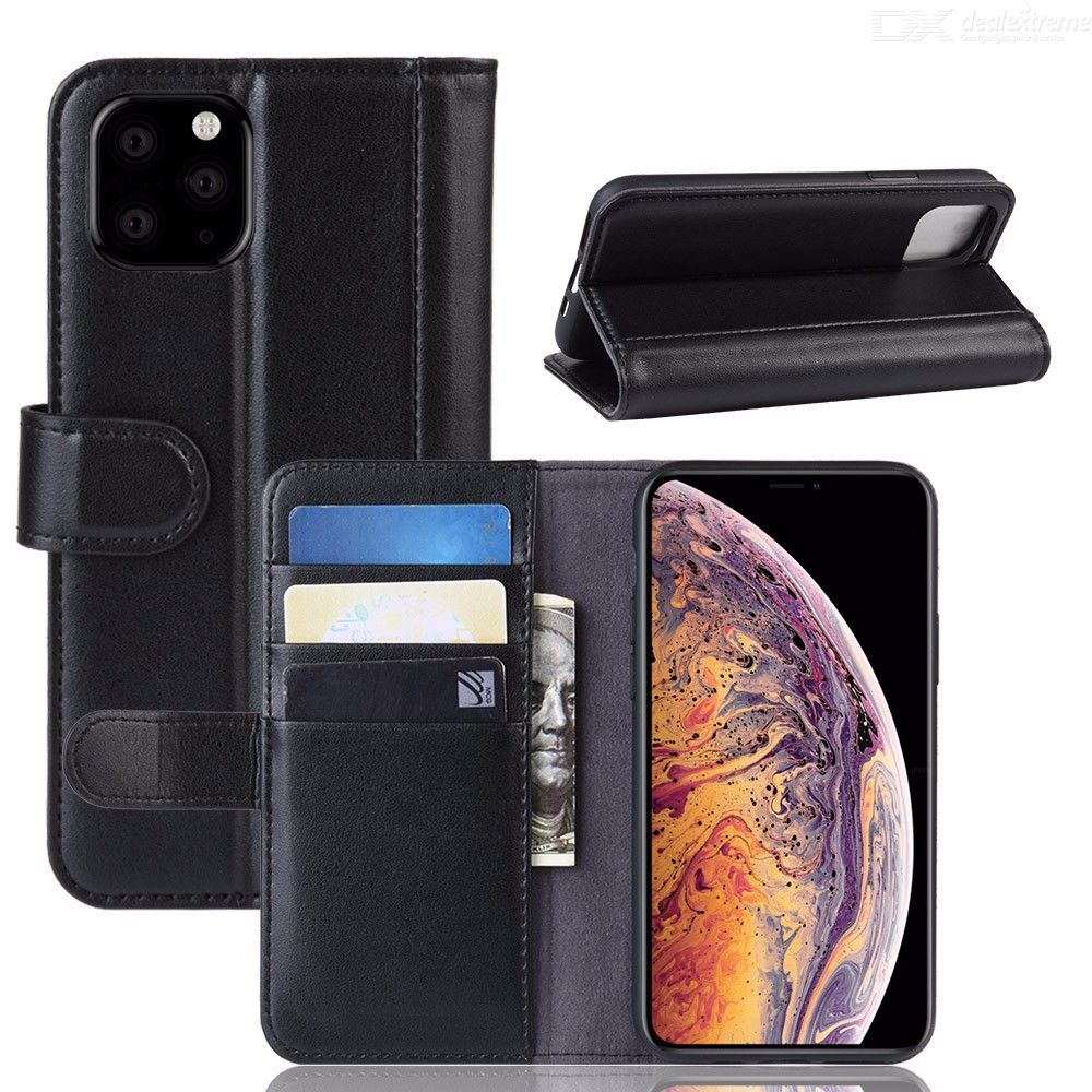 CHUMDIY Genuine Leather Phone Wallet Case with Kickstand for iPhone 11 Pro Max
