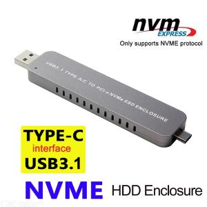 SSD Hard Disk Drive Case M.2 To USB Type C 3.1 NVMe PCIE USB3.1 HDD Enclosure
