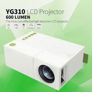 YG310 Portable LED Projector 800LM HDMI USB Mini Projector Home Media Player Support 1080p - EU Plug - White