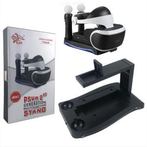 4-in-1 Charging Display Stand For PSVR 2th Generation With Dual Charger Docking Station For PS Move Controllers