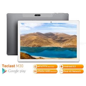 Teclast M30 Android 8.0 2560 X 1600 10.1 Inch Tablet PC With 4GB RAM 128GB ROM, MT6797 X27 Deca Core 7500mAh GPS - EU Plug