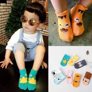 Kids Colorful Cartootn Socks For Toddler Boys Girls Cotton Socks