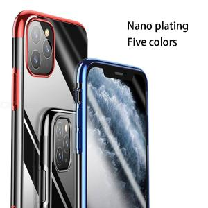 USAMS Plated Clear Case Compatible For IPhone 11 / 11 Pro / 11 Pro Max TPU Case