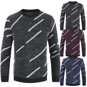 Male Casual Slim O-neck Long Sleeve Windproof Sweater