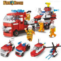 4-in-1-Fire-Engine-Toy-Set-DIY-Fire-Truck-Airplane-Ship-Playset-For-5-To-7-Year-Old