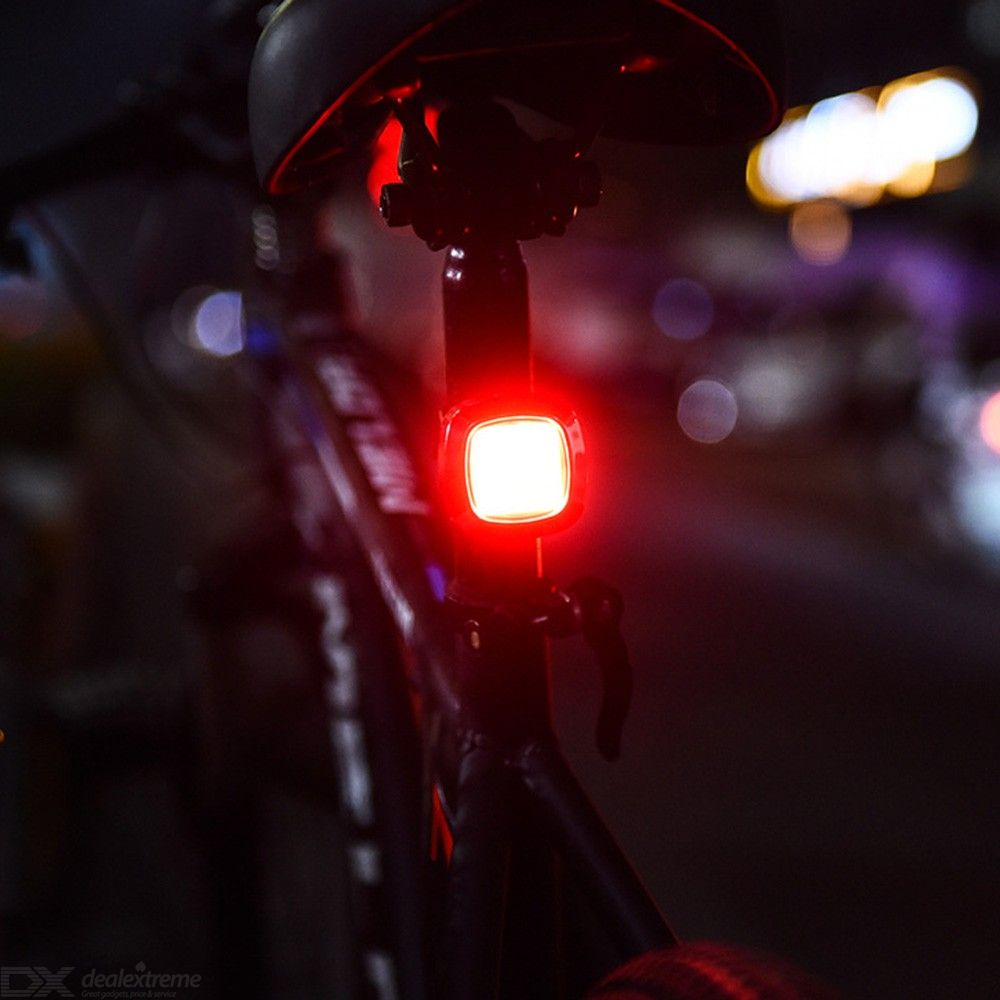 USB Charging Bicycle Taillight Waterproof COB Intelligent Safety Warning Bike Rear Lamp