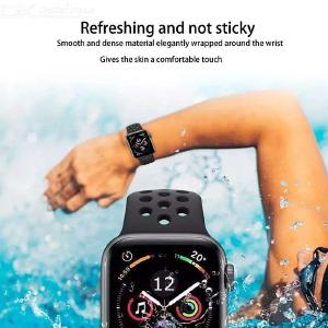Breathable Smartwatch Band Premium Silicone Sports Band For IWATCH 1 2 3 4