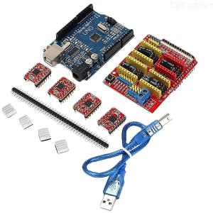 Geekcreit CNC Shield UNO-R3 Board 4xA4988 Driver Kit With Heat Sink For Arduino Engraver 3D Printer