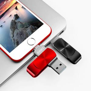 EAGET I66 USB 3.0 Lightning Flash Drive 2-in-1 Memory Stick U Disk For IPhone