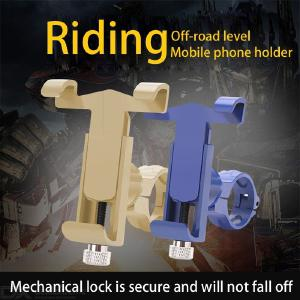 Bike Phone Mount Universal Adjustable Metal Bicycle Phone Holder For Cycling GPS/Map/Time/Music Fit For IPhone Android