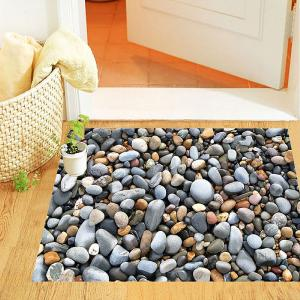 3D Cobblestone Floor Wall Sticker, Removeable Self Adhesive PVC Art Decal Wallpapar For Bedroom Living Room Bathroom