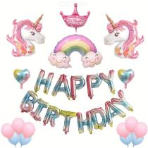 15PCS-Birthday-Party-Decorations-Happy-Birthday-Balloon-Banner-Foil-Balloons-Latex-Balloons-Set-With-Manual-Inflator