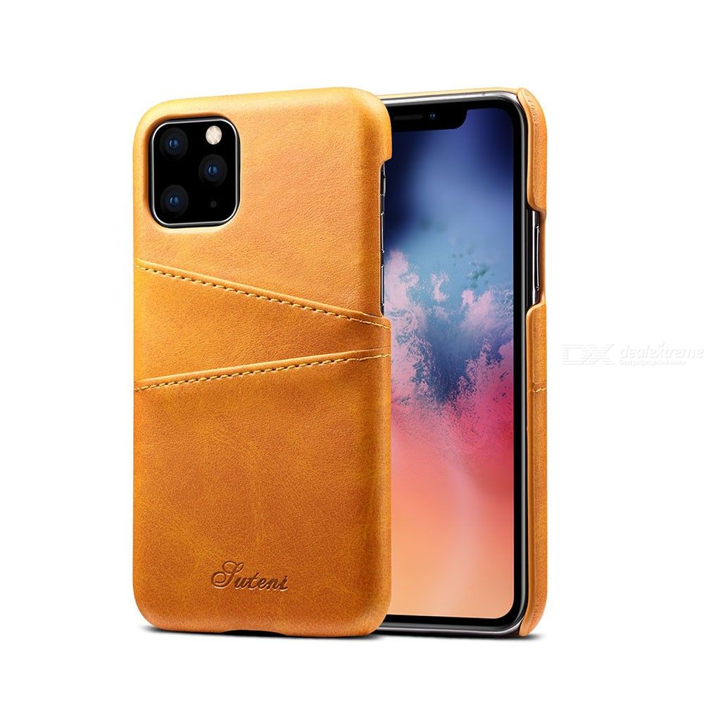 Phone Case Premium Calf Texture Leather Back Cover For IPHONE 11/11 PRO/11 PRO MAX