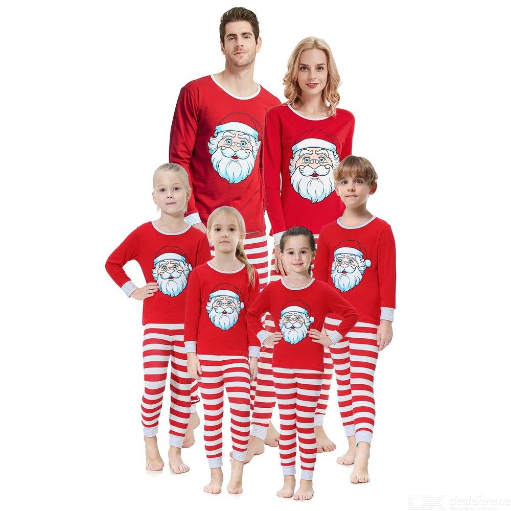 Nightwear | Sleepwear | Christmas | Pajamas | Family | Pajama | Cotton | Sleeve | Print | Long | Set | Me