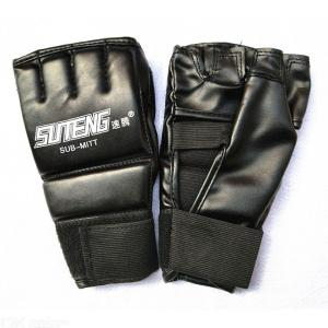MMA Half Leather Gloves For Grappling Martial Arts Sparring Punching Bag
