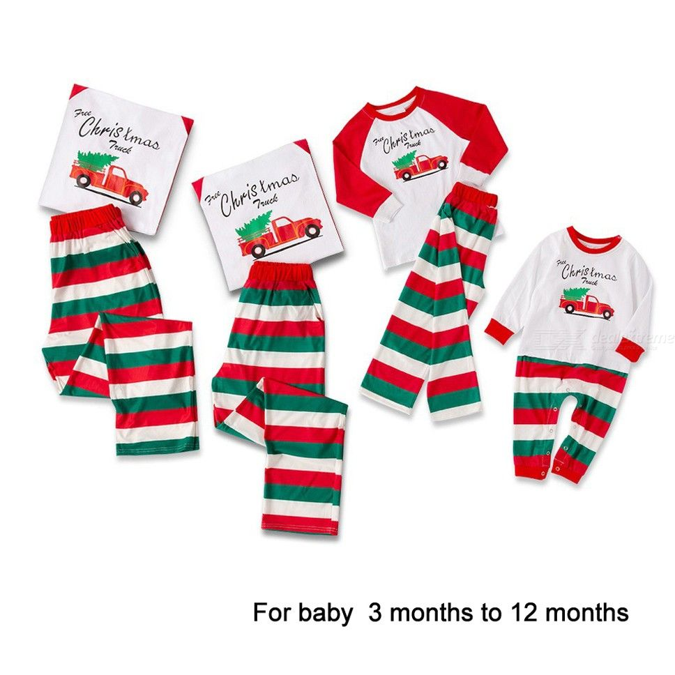 Nightwear | Sleepwear | Christmas | Pajamas | Family | Pajama | Cotton | Sleeve | Print | Baby | Long | Set