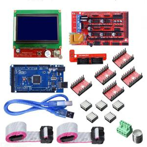 LCD 12864 RAMPS 1.4 Board + 2560 R3 Control Board + A4988 Driver Kit For 3D Printer