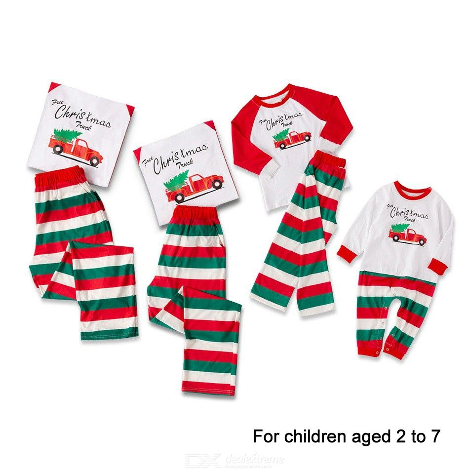 Pajamas Christmas Pjs Family Set Cotton Printed Long Sleeve Nightwear Sleepwear Outfits For Kids Aged 27