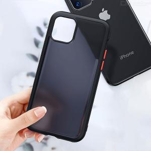 Shockproof Anti-Drop Matte PC + TPU Case, Translucent Frosted Protective Phone Back Cover For IPhone 11 / 11 Pro / 11 Pro Max