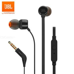 JBL T110 In-Ear Earphone With Microphone, Wired Control Headphone 3.5mm Jack Earbuds For Huawei Xiaomi Samsung Phones Computer
