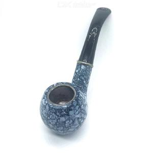 Classic Mens Cigratte Pot Tobacco Pipe Natural Hand-made Resin Pipe - Marble Color