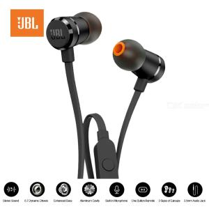 JBL T290 3.5mm Wired Earphone JBL Stereo Music Headset, Dynamic Bass One Button Remote Hands-free Earbuds With Microphone