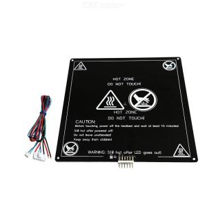 Anet 220x220x3mm 120W 12V MK3 Aluminum Board PCB Heated Bed With Wire For 3D Printer