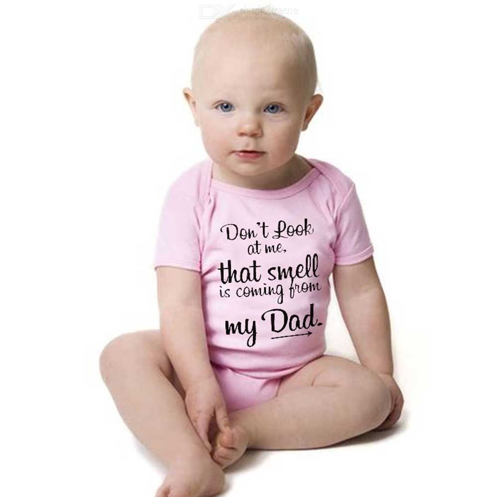 Newborn Baby Girls Short Sleeve Romper Playsuits Cute Print Outfits