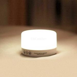 Dimmable LED Touch Lamp Bedroom Living Room Table Bedside Night Light Battery Powered - White