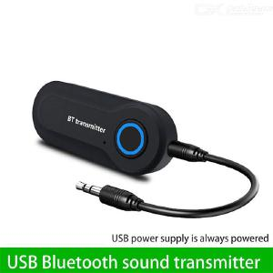 Bluetooth Transmitter For TV PC Wireless Bluetooth 3.5mm Stereo Audio Adapter Transmitter Plug And Play Powed By USB