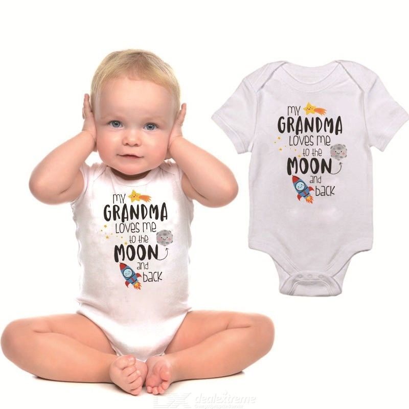 Newborn Baby Sleeve Romper Playsuits Cute Print Outfits For Toddler Boys Girls