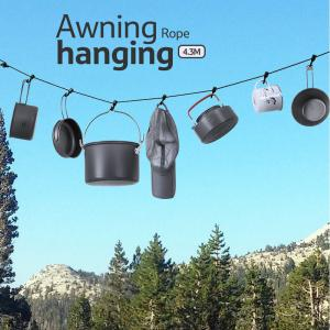 Naturehike Multifunctional Anti-skid Hanging Rope Clothesline for Outdoor Camping
