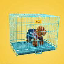 Folding-Pet-Wire-Cage-Double-Door-Metal-Dog-Crate-For-Small-Dogs-Puppy-Cat-Rabbit