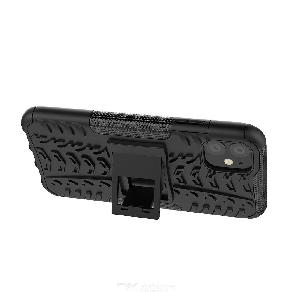 CHUMDIY Tough Armor Cover with Reinforced Phone Stand Protective Shell for iPhone 11