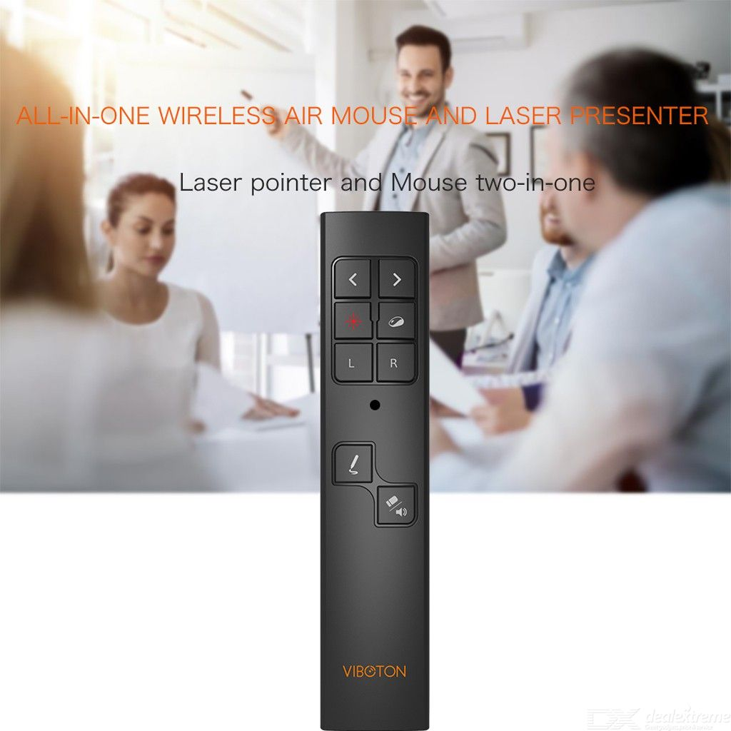 VIBOTON PP930 2.4GHz Multimedia Presentation Remote PowerPoint Clicker Wireless Presenter Handheld Controller Flip Pen, Dealextreme  - buy with discount