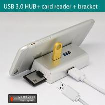 USB-30-Hub-All-in-One-USB-Data-Hub-And-Card-Reader-With-3-USB-Port-1-Micro-USB-Card-Reader-SDTF-Card-Reader-Phone-Stand