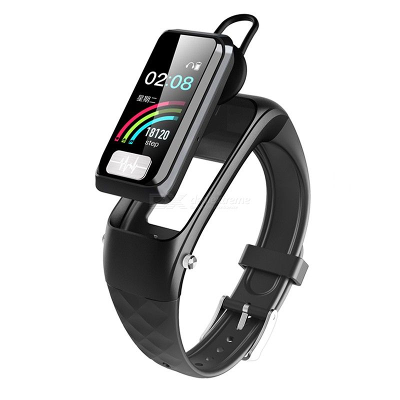 Dmdg 2 In 1 Bluetooth Headset Smart Bracelet Watch With Heart Rate Blood Pressure Blood Oxygen Ecg Monitor Free Shipping Dealextreme